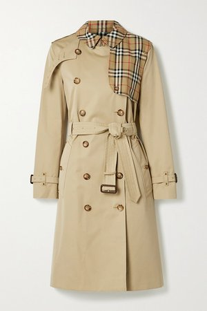 Hern Embellished Cotton-gabardine Trench Coat - Beige
