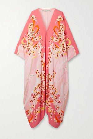 Printed Woven Kaftan - Pink
