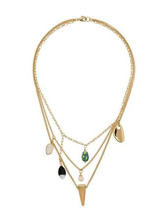 Isabel Marant gold multi-charm necklace SS19 - Shop Online Now - Fast AU Delivery