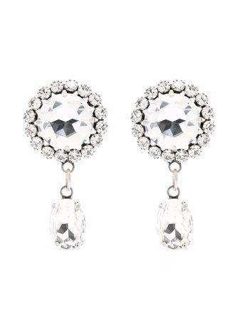 Alessandra Rich crystal-embellished Round Drop Earrings - Farfetch