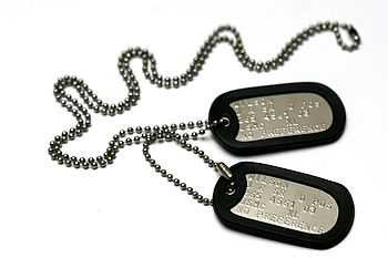 personalised american army dog tag necklace by armydogtags | notonthehighstreet.com