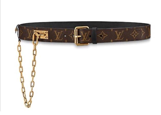 LOUIS VUITTON chain belt