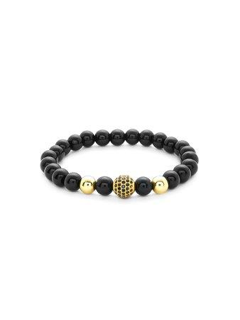 Two Tone Beaded Bracelet