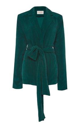 Lightweight Waist Tie Blazer by MATÉRIEL | Moda Operandi