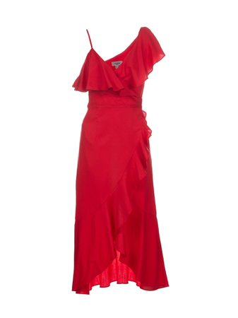 Jovonna Zaida Ruffle Wrap Dress
