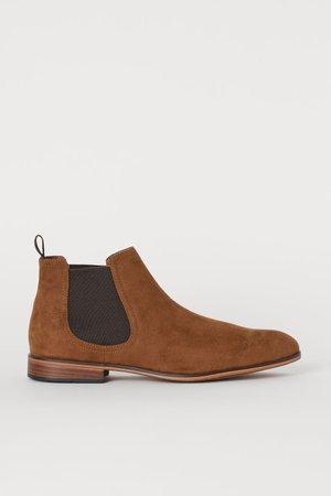 Chelsea-style Boots - Light brown - Men   H&M US