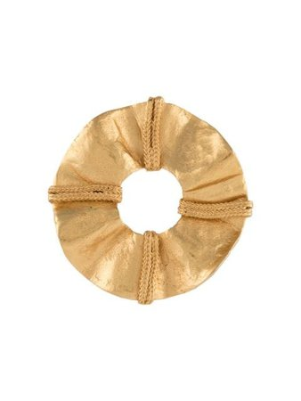 Shop gold Yves Saint Laurent Pre-Owned 1980s hammered loop brooch with Express Delivery - Farfetch