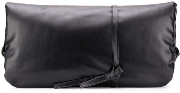leather folded clutch bag