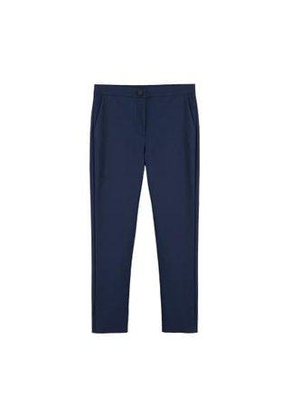MANGO Straight cotton trousers