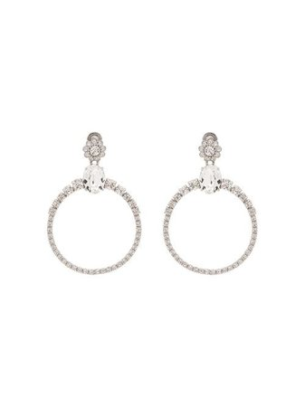 Miu Miu crystal-embellished Hoop Earrings - Farfetch