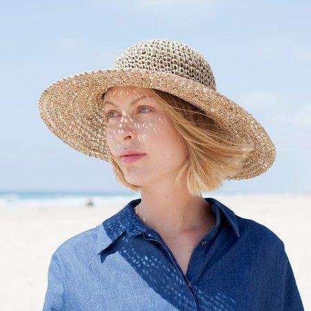 Wide Brim Straw Hat | Justine Hats | Wolf & Badger