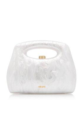 Mimi Marbled Acrylic Top Handle Bag By Cult Gaia   Moda Operandi