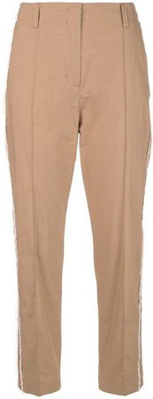Dorothee frayed cropped trousers