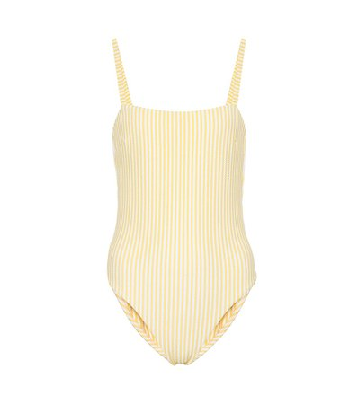Asceno - Striped swimsuit | Mytheresa