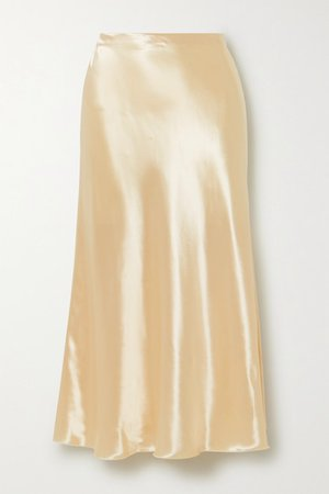 The Row | Medela satin midi skirt | NET-A-PORTER.COM