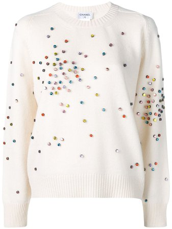 Pre-Owned Cashmere Embellished sweater Vintage