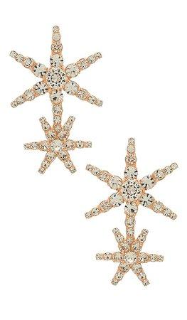 Jennifer Behr Estrella Earrings in Rose Gold | REVOLVE