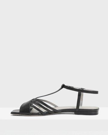 V Strap Sandal in Leather