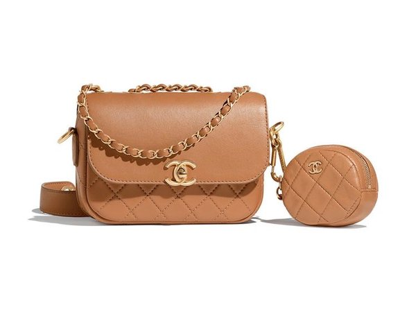 chanel camel bag