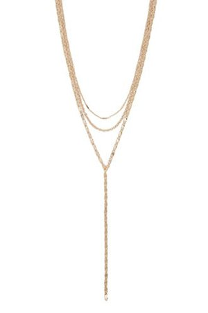 Layered Drop Chain Necklace | Forever 21