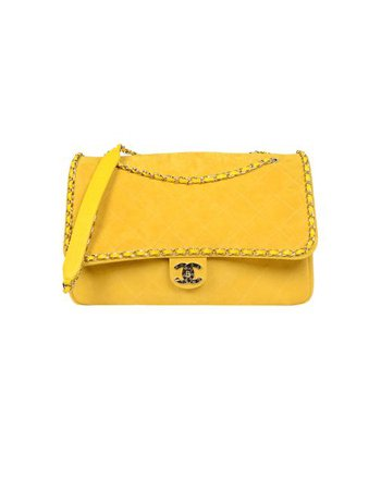 Chanel Classic Flap X Pharrell 2019 Limited Edition Xxl Quilted Yellow Suede Leather Weekend/Travel Bag - Tradesy