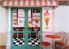 vintage ice cream shop