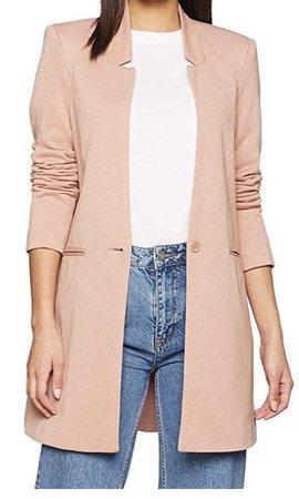 chaqueta punto rosa blazer