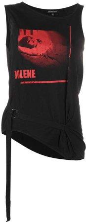 Jolene-print belted tank top