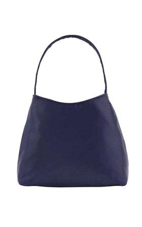 Brie Leon The Mini Chloe Satin Top Handle Bag navy