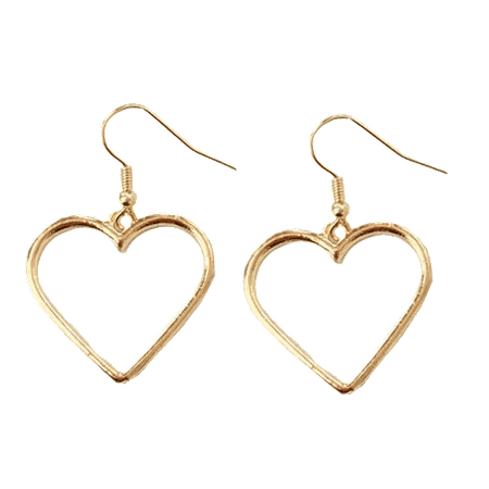 METALLIC VINTAGE HEART EARRINGS