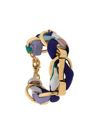 Emilio Pucci Logo Engraved Woven Chain Bracelet For Women | Farfetch.com