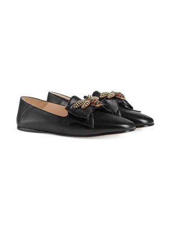 Gucci Leather ballet flat with bow $980 - Buy Online - Mobile Friendly, Fast Delivery, Price