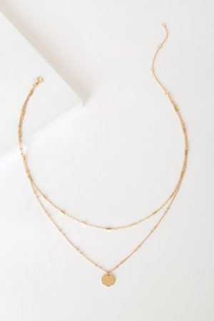 Gold Layered Necklace - Dainty Gold Necklace - Chain Necklace