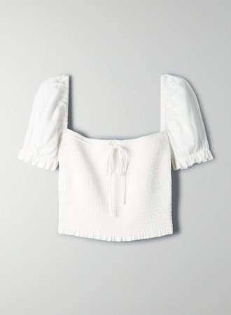 Wilfred SMOCKED BLOUSE | Aritzia US