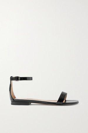 Chafla Patent-leather Sandals - Black