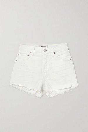White Parker distressed denim shorts | AGOLDE | NET-A-PORTER