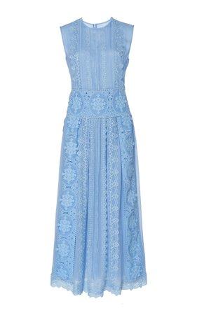 Costarellos I Sleeveless Silk-Chiffon Midi Dress €1.070