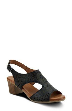 Chains Block Heel Sandal