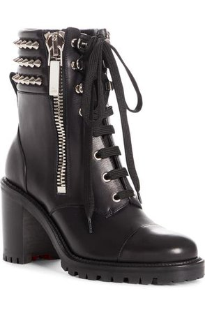 Christian Louboutin Winter Spikes Lace-Up Boot (Women) | Nordstrom