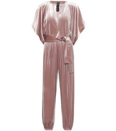Rectangle Jog velvet jumpsuit
