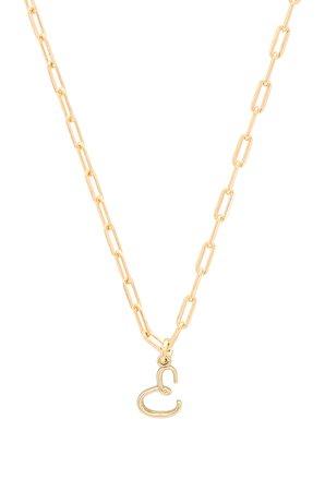 E Initial Necklace