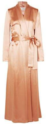 Belted Silk-satin Coat