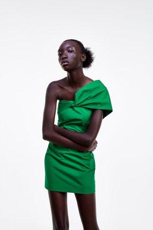 DRESS WITH DRAPED NECKLINE - View all-DRESSES-WOMAN-SALE   ZARA United States