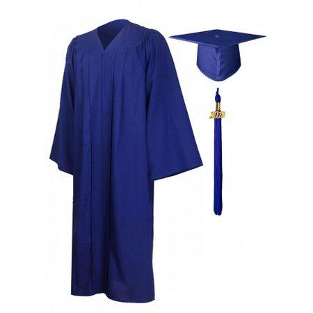 Premium Graduation Cap Gown Package--Royal Blue