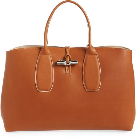 Large Lux Leather Tote