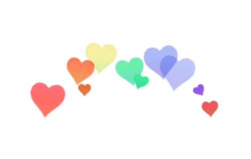 Rainbow Photobooth Hearts PNG Like Or Reblog If... - Transparents