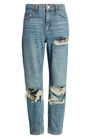 Topshop Tokyo Ripped Mom Jeans | Nordstrom
