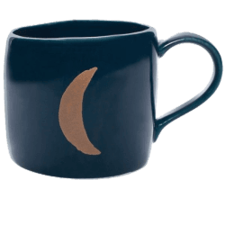 Navy-Blue Moon Mug/Cup png