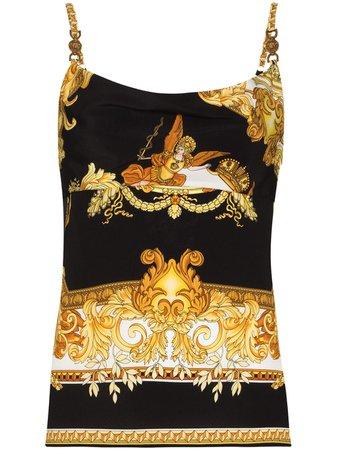Versace Barocco-print Silk Camisole Top - Farfetch