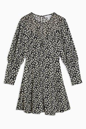 TALL Black and White Twist Grunge Mini Dress | Topshop